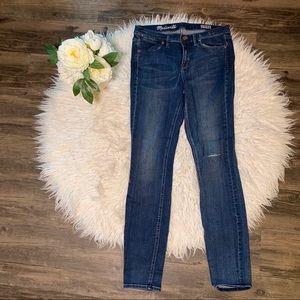 • Madewell Blue Wash Skinny Skinny Jeans •